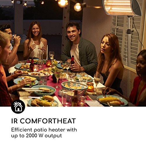 blumfeldt Heat Guard Focus • Terrassenheizstrahler • Infrarot-Heizstrahler • IR ComfortHeat • 1000 oder 2000 W • Easy Control • Halogen • höhenverstellbar • Außengebrauch • Aluminiumgehäuse • grau - 6