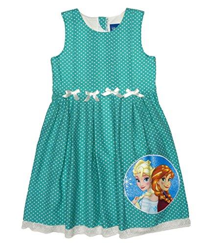 Eiskönigin Frozen Eisprinzessinnen Sommer Mädchen Baby Freizeit Strand Kleid Rock Kostüm Kurzarm ärmellos Trägerkleid 100% Baumwolle von Disney mit Anna und ELSA Olaf Farbe Modell 3, Größe (Olaf Disney Kostüme)