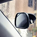 Espejo de coche para bebé, seguridad ajustable, rotación inastillable, espejo retrovisor para niños con hebilla en el parabrisas Clip en el coche, espejo retrovisor para bebé