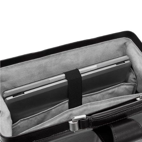 Dermata Business Ironing anelli in pelle 40cm, cognac nero