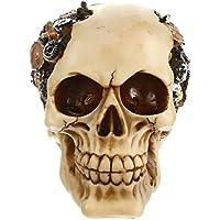 MagiDeal 3D Cranio Teste con Occhiali Da Sole e Cappelli Gotico Steampunk Rave Goth Di Cyber Soprammobili Mu5MA