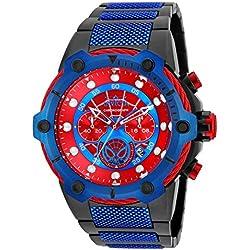 Invicta 25782 Marvel - Spiderman Reloj para Hombre acero inoxidable Cuarzo Esfera rojo