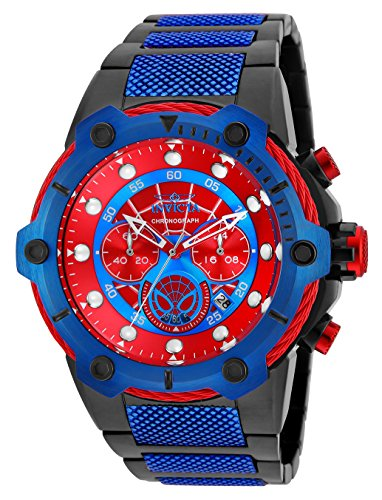 Invicta 25782 Marvel - Spiderman Men's Wrist Watch Stainless Steel Quartz Red Dial
