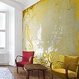 Apalis Vliestapete Hope Fototapete Quadrat | Vlies Tapete Wandtapete Wandbild Foto 3D Fototapete für Schlafzimmer Wohnzimmer Küche | Größe: 240x240 cm, gelb, 97745