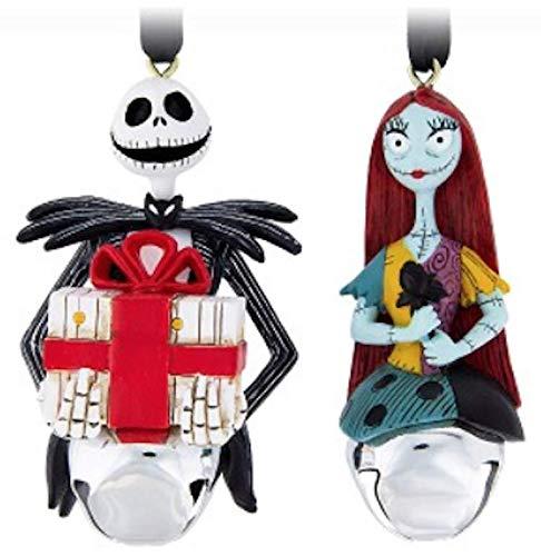 DisneyParks Jack Skellington Sally Bell Ornaments -