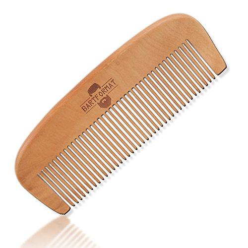 BARTFORMAT Bartkamm groß (13 cm) aus 100% Birnbaumholz - Stabiler, Antistatischer Bart (Bart Walross)