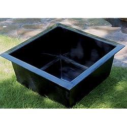Heissner 150 x 150 x 45cm Preformed Square Water Garden - Black