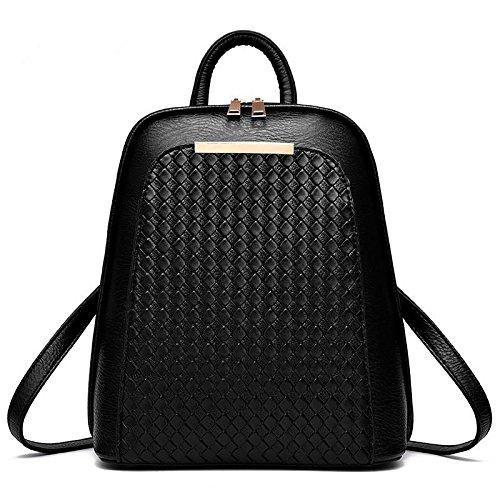 HQYSS Borse donna Coreana PU pelle sezione verticale moda Casual donna zaino borse tracolla Messenger , gold black