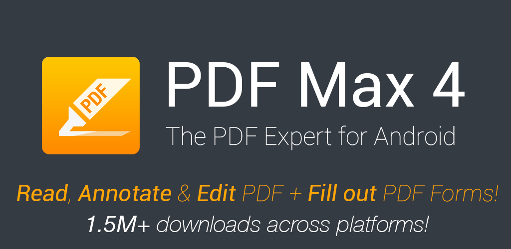 PDF Max Pro - Read, Annotate & Edit PDF documents plus Fill out PDF Forms! Screenshot