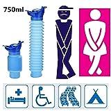 WLWWCX Pocket Toilet-Your Bathroom in The Car, orinatoio Portatile Esterno, Imbuto per urina Mobile Personale Riutilizzabile, Bottiglia pipì Bottiglia pipì per Campeggio all'aperto (2pcs)