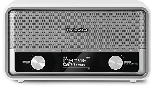 TechniSat DIGITRADIO 520 / Digital-Radio mit WLAN, DAB+, UKW, WiFi, Multiroom-Streaming, Spotify-Connect, Web-Radio mit Bluetooth, Steuerung per App, Retro-Radio, weiß