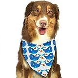 Freundliches Wal-Muster Ostern Hund Bandana Reversible Triangle Lätzchen für Hunde Haustier Tiere