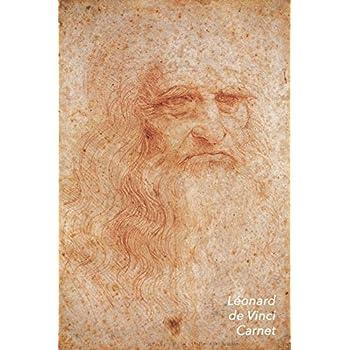 Léonard de Vinci Carnet: l'Autoportrait à la Craie Rouge | Idéal pour l'École, Études, Recettes ou Mots de Passe | Parfait pour Prendre des Notes | Beau Journal
