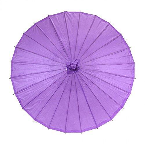 Srovfidy ombrello di bambù dell'ombrello di bambù di stile cinese ombrello di antichità cinese dell'ombrello del bastone del parasole (purple)