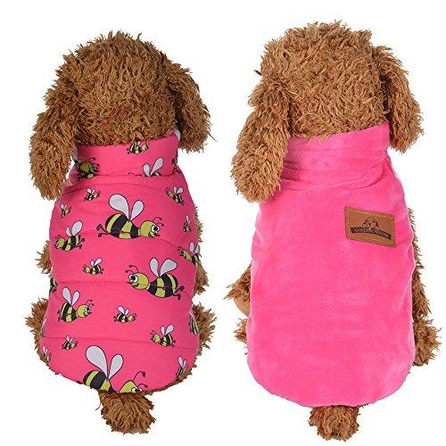 Balock Schuhe Haustier Mantel,Warm Winter Haustier Mantel,Hund Kleider Jacke Welpen Kleidung Weste,für Kleine Hunde,Welpen,Schnauzer, Teddy,Pudel,Chihuahua (Rosa, M) -