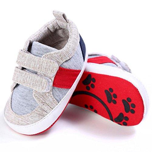 BZLine® Tissu en Coton Chaussures de premier pas de Style souple pour Bébé Unisexe 0-18Mois (0~6Mois, Kaki) Kaki
