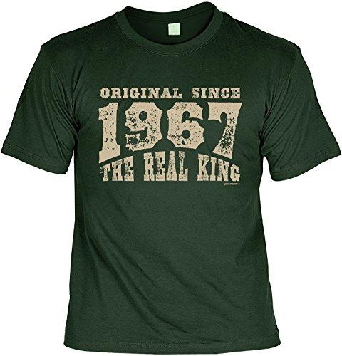 T-Shirt zum Geburtstag: Original since 1967. The real King - Tolle Geschenkidee - Baujahr 1967 - Farbe: dunkelgrün Dunkelgrün