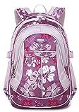 FREEMASTER Kinderrucksäcke Schulrucksäcke Schultasche Daypacks Backpack für Kinder Mädchen Jungen Jugendliche Schulrucksäcke mit Gurt M/S 45*30*16/ 41*27*13 CM 22/15 Liters (Purpur, M)