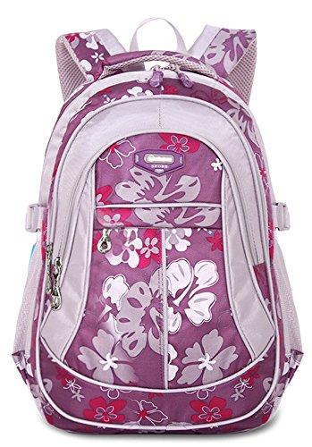 FREEMASTER Kinderrucksäcke Schulrucksäcke Schultasche Daypacks Backpack für Kinder Mädchen Jungen Jugendliche Schulrucksäcke mit Gurt M/S 45*30*16/ 41*27*13 CM 22/15 Liters (Purpur, M) -