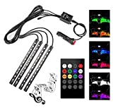 #4: GrowAbout Color Changing Atmosphere Music Control LED Foot/Floor Strip Multi Color 48 LED Lights Car Interior Decorative Mood Lighting - Mitsubishi Pajero