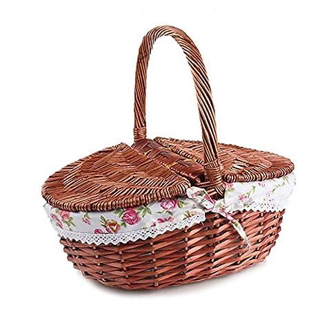 Harra Home 100% Rattan Picknickkorb für handgefertigt