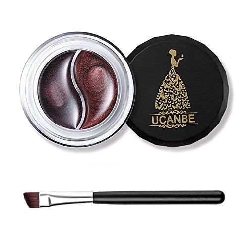 o Color Eyeliner Gel Augen Make up Nicht blühende Eyeliner Creme mit Pinsel Kit ()