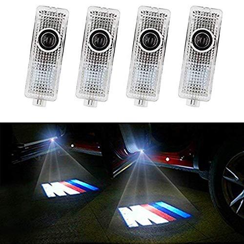 HConce 4 Stück Autotür Einstiegsleuchte Projektion Türeinstiegbeleuchtung mit Logo für E90 E91 E92 E93 M3 E60 E61 F10 M5