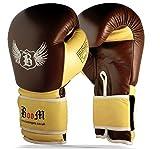 BOOM pur cuir Gants de boxe MMA sac de frappe Sparring 10 oz