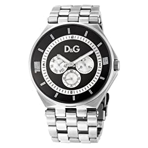 Dolce & Gabbana - DW0584 - Montre Homme - Quartz Analogique - Chronographe - Bracelet en Acier Inoxydable Argent
