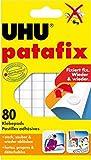 UHU Patafix, Wieder ablösbare und wieder verwendbare Klebepads, weiß, 80 Stück -