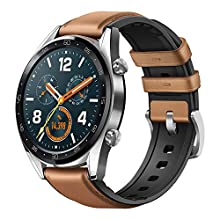 Huawei Watch GT GPS Running Watch with Heart Rate Monitoring and Smart Notifications (Up to 2 weeks Battery Life), Brown