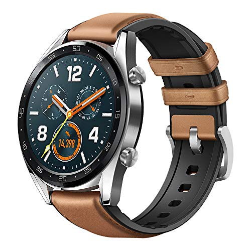 "Huawei Watch Classic Smartwatch Touchscreen - Huawei Watch GT Classic - GPS Smartwatch with 1.39"" AMOLED Touchscreen, 2-Week Battery Life, 24/7 Continuous Heart Rate Monitor, Indoor and Outdoor Sports, 5ATM Waterproof (US Warranty)"