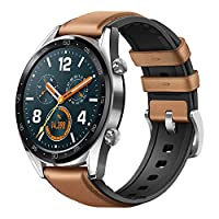 Huawei Watch GT Classic Stainless Steel Hybrid Strap FTN-B19 - Saddle Brown