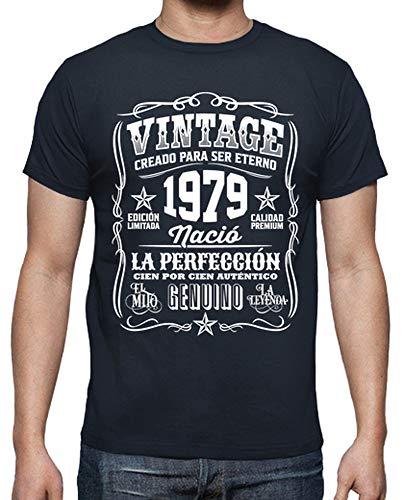 Latostadora - Camiseta Vintage 1979 Hombre Azul Marino