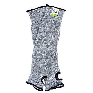 Résistance aux coupures Knit manches protection de niveau5,Slash résistant Sécurité de protection Bras manches avec fente pour pouce Aide à prévenir les égratignures Rayures les irritations de la peau