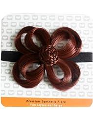 Love Hair Extensions - LHE/X/FLOWER/F/EB/34 - Fleur Bandeau en Elastique - Couleur 34 - Cuivre Chaud