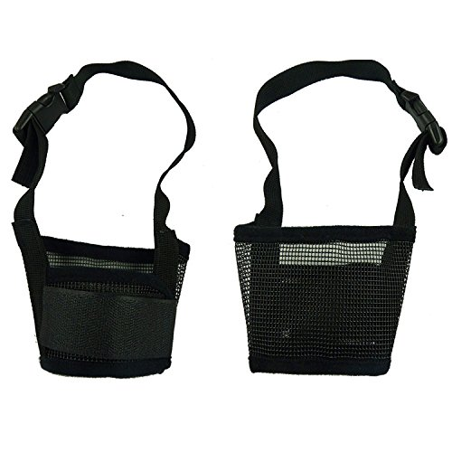 RayLineDo-Dog-Mouth-Muzzle-Breathable-Nylon-Mesh-Adjustable-Biting-Chewing-Prevention-Safety-Belt-Soft-Pet-Anti-Barking-Muzzles-for-Small-Medium-Large-Dogs-Size-XL-In-Black