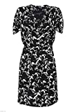 FRENCH CONNECTION HATCHED HORSE PRINT COWL NECK JERSEY DRESS