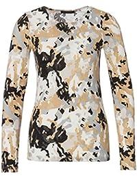 Strenesse Damen Langarmshirt 526034 23014 Camouflage Regular Fit