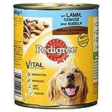 Pedigree Dose Adult mit Lamm, Gemüse und Nudeln-Saft Geschnetzeltes, 800 g