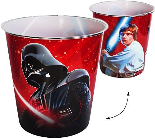 Papierkorb / Behälter -  Star Wars - Darth Vader  - 8 Liter - aus Kunststoff - Spielzeugkorb / Popcornschüssel / Mülleimer Eimer - auch als Blumentopf nutzb.. - Popcorn Beschichtete