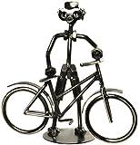 Fahrradfahrer Schraubenmännchen aus Metall für Geldgeschenk Fahrrad oder als lustige Geschenkidee oder kleines Geschenk für Radfahrer