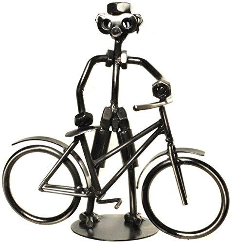 Fahrradfahrer Schraubenmännchen aus Metall für Geldgeschenk Fahrrad oder als lustige Geschenkidee oder kleines Geschenk für Radfahrer -