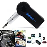 #9: DEEP-TECH Meecase Wireless Bluetooth Receiver Adapter 3.5mm AUX Audio Car Kit Compatible With All Android And iOs Devices - Random Colour