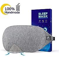 Schlafmaske Damen und Herren Premium Baumwolle Augenmaske Handarbeit Augenbinde Schlafbrille mit Tasche Komplette... preisvergleich bei billige-tabletten.eu