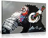 Leinwand-Kunstdruck, Motiv: cooler Affe mit DJ-Kopfhörern, Wandbild, A1 76x51 cm (30x20in)