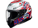 Shoei NXR Marquez Power Up Motorcycle Helmet L White Red Blue (TC-1)