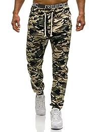 BOLF Herren Sporthose Trainingshose Jogger Hose Fitness Camo Army 6F6 Motiv