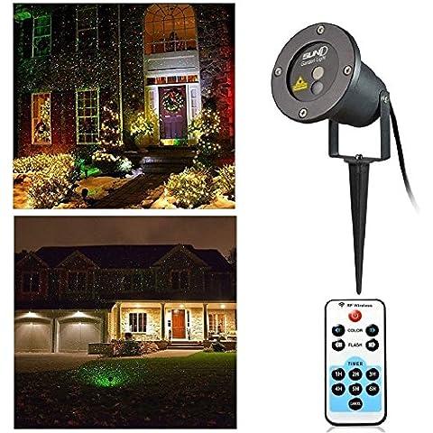 KKG®–Decorazione natalizia a LED luci da giardino lampada per proiettore