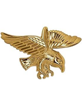 CLEVER SCHMUCK Goldener Anhänger kleiner Adler 20 x 16 mm fliegend glänzend 333 GOLD 8 KARAT im Etui